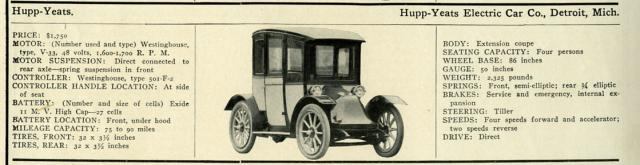 1911 Hupp-Yeats Model 1A Regent Coupe