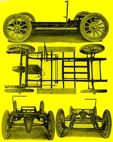 1911 Hupp-Yeats Model A chassis views