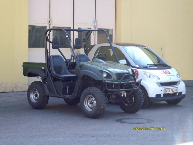 Electric UTV more roomy compared to Smar