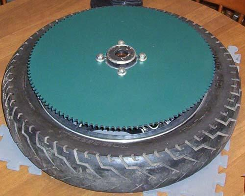 drive wheel with sprocket