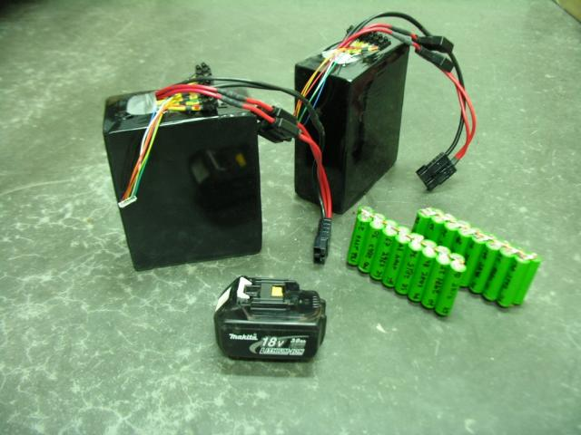 2x 540Wh Home made  Lithium battery