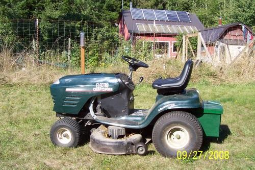 Mower converion & solar power system