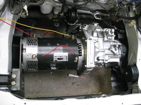 Motor in car with eng mount installed
