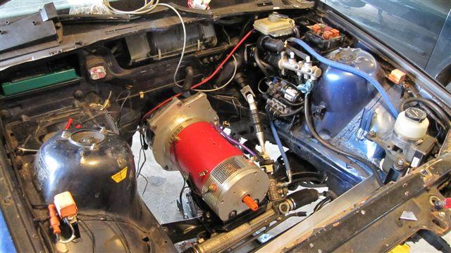 Motor installed in vehicle.