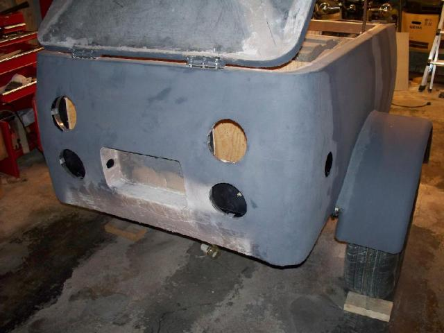 Back end showing holes for stop and turn