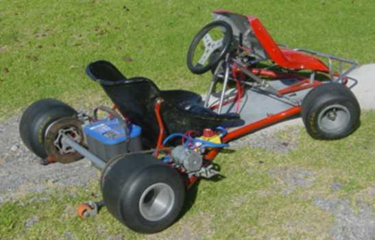 Electric Go Kart Side View