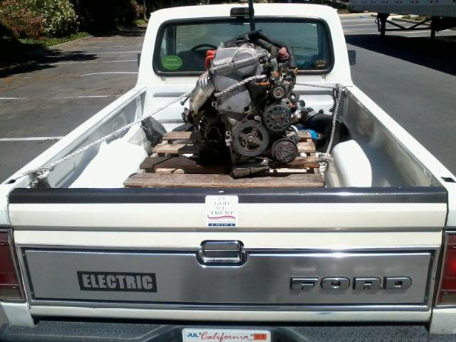 Replacement Prius engine in truck