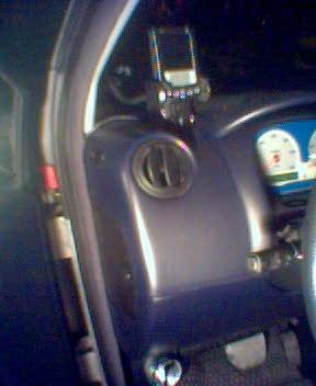 Think EV Monitor installed in a std brac