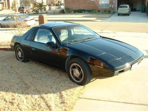 Fiero with its new paint job