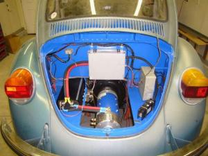 Fusca 73 transformado para carro eletrico