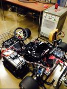 Kart with power supply