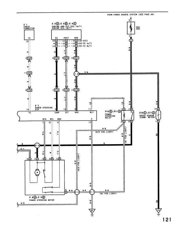 wiring for a power steering pump diagram on 2000