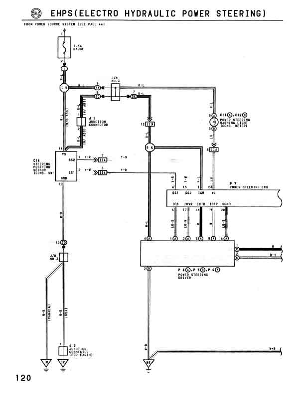 toyota mr2 power steering system operation diagram 2